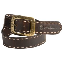 John Deere Laced Leather Belt (For Women) in Brown - Closeouts