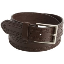 John Deere Stitch Belt - Leather (For Men) in Brown - Closeouts