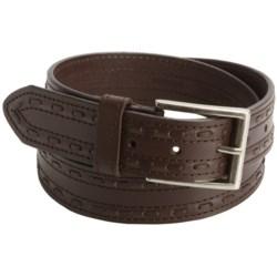 John Deere Stitch Belt - Leather (For Men) in Brown