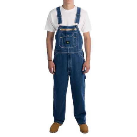 John Deere Workwear Denim Bib Overalls (For Men) in Stone Wash