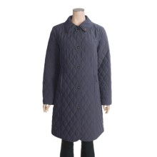 John Partridge Waddingham Quilted Microfiber Coat (For Women) in Navy - Closeouts