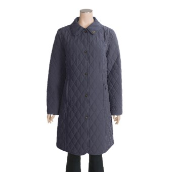 John Partridge Waddingham Quilted Microfiber Coat (For Women) in Navy
