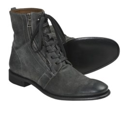 John Varvatos Ago Side Zip Boots (For Men) in Lead