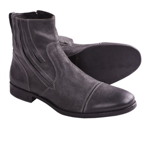 John Varvatos Ago Zip Boots (For Men) in Lead
