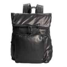 John Varvatos Bleeker Lambskin Backpack in Black - Closeouts
