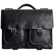 John Varvatos Collection Briefcase in Black - Closeouts