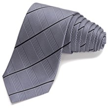 John Varvatos Collection Haberdasher Stripe Narrow Tie - 5-Fold (For Men) in Blue - Closeouts