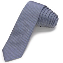 John Varvatos Collection Linxus Stripe Skinny Tie (For Men) in Blue - Closeouts