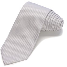 John Varvatos Collection Solid Waffle Narrow Tie - 5-Fold (For Men) in Silver - Closeouts