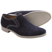 John Varvatos Dylan Shoes - Slip-Ons, Leather (For Men) in Midnight - Closeouts