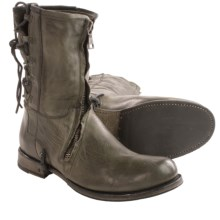 John Varvatos Leather Engineer Boots (For Men) in Pavement - Closeouts