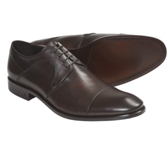 John Varvatos Richard Cap Toe Shoes - Oxfords (For Men) in Espresso