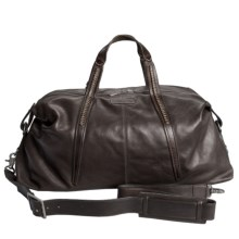 John Varvatos Richards Leather Duffel Bag in Chocolate - Closeouts