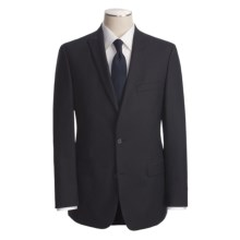 John Varvatos Star USA Beaded Slim Jim Stripe Suit - Peak Lapels, Wool (For Men) in Navy - Closeouts