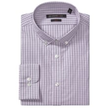 John Varvatos Star USA Check Dress Shirt - Slim Fit, Button-Down Collar, Long Sleeve (For Men) in Dusty Rose - Closeouts