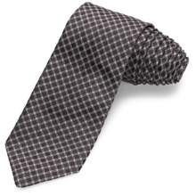 John Varvatos Star USA Checkmate Grid Narrow Tie (For Men) in Black - Closeouts