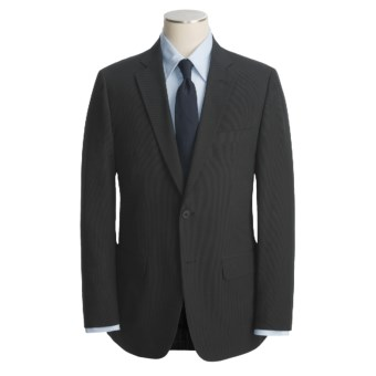 John Varvatos Star USA Cotton Sport Coat - Beaded Mini-Stripe (For Men) in Black