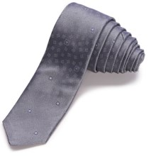 John Varvatos Star USA Deco Medallion Print Skinny Tie (For Men) in Grey - Closeouts