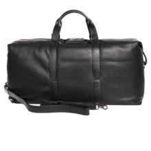 John Varvatos Star USA Driggs Leather Duffel Bag in Black - Closeouts