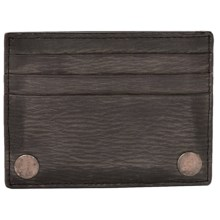 John Varvatos Star USA Leather Credit Card Case in Black - Closeouts
