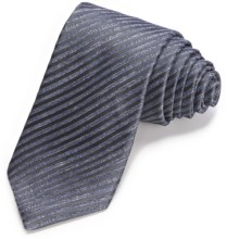 John Varvatos Star USA Narrow Striated Pinstripe Tie (For Men) in Charcoal - Closeouts