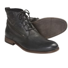 John Varvatos Star USA NYC Zip Wrap Boots - Suede (For Men) in Coal - Closeouts