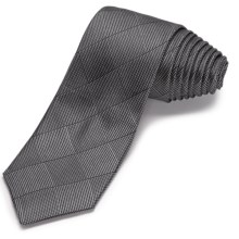 John Varvatos Star USA Opti-Block Narrow Tie (For Men) in Black - Closeouts