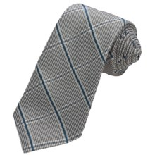 John Varvatos Star USA Plaid Silk Tie (For Men) in Teal - Closeouts