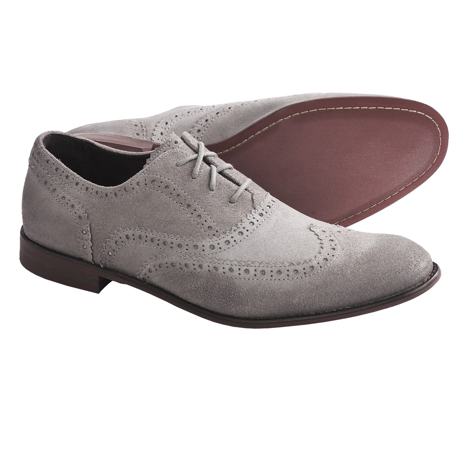 John Varvatos Star USA Sid Buck Wingtip Shoes - Suede (For Men) in