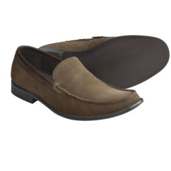 John Varvatos Star USA Side Buck Venetian Loafer Shoes - Suede (For Men) in Clay