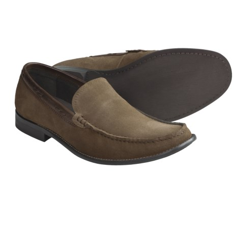 John Varvatos Star USA Side Buck Venetian Loafer Shoes - Suede (For Men) in Oxide