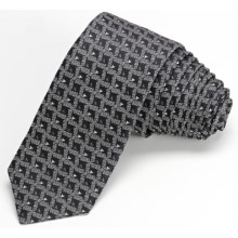 John Varvatos Star USA Skinny Diamante Pattern Neat Tie (For Men) in Black - Closeouts