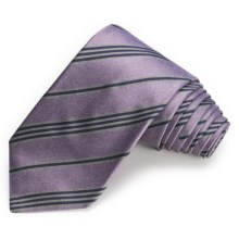 John Varvatos Star USA Spring Melange Stripe Narrow Tie (For Men) in Lilac - Closeouts