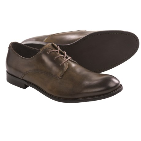 John Varvatos Star USA Star Buck Derby Shoes (For Men) in Black Sand Calf W/ Crème