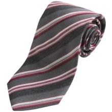 John Varvatos Star USA Stripe Silk Tie (For Men) in Black - Closeouts