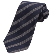 John Varvatos Star USA Stripe Silk Tie (For Men) in Navy - Closeouts