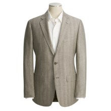 John Varvatos Star USA Stripe Sport Coat - Linen-Wool (For Men) in Light Grey - Closeouts