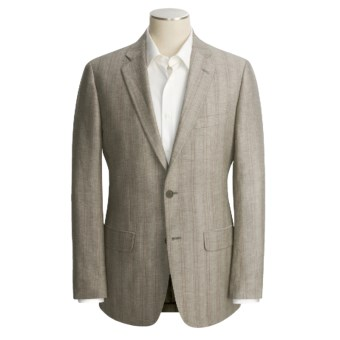 John Varvatos Star USA Stripe Sport Coat - Linen-Wool (For Men) in Light Grey