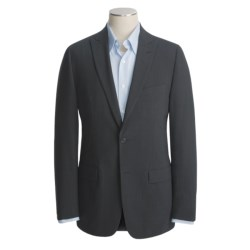 John Varvatos Star USA Waffled Glen Plaid Sport Coat - Partially Lined (For Men) in Dark Grey