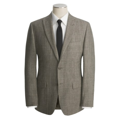 John Varvatos Star USA Wool-Linen Sport Coat - Partially Lined (For Men) in Med Taupe