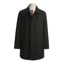 John Varvatos Star USA Wool Twill Overcoat - Button-Out Liner (For Men) in Black - Closeouts