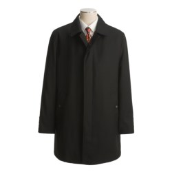 John Varvatos Star USA Wool Twill Overcoat - Button-Out Liner (For Men) in Black