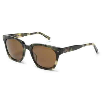 John Varvatos V 796 Universal Fit Sunglasses (For Men) in Olive/Brown - Closeouts