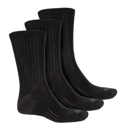 John Wayne Cotton Work Socks - 3-Pack, Crew (For Men and Women) in Black - Closeouts