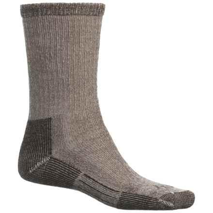 John Wayne Elite Hiker Socks - Merino Wool, Crew (For Men and Women) in Brown - Closeouts