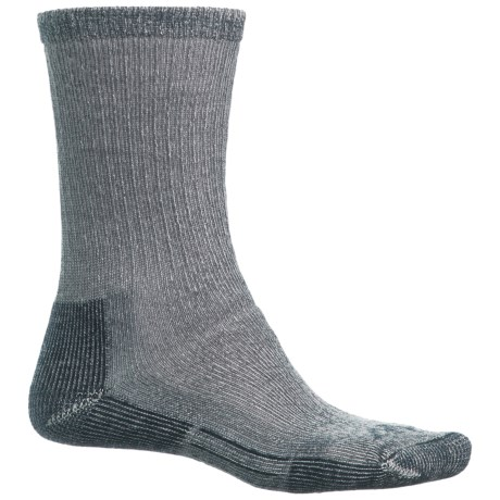 John Wayne Elite Hiker Socks - Merino Wool, Crew (For Men and Women) in Navy