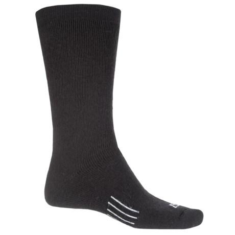 John Wayne Elite Wool Boot Socks - Crew (For Men) in Black