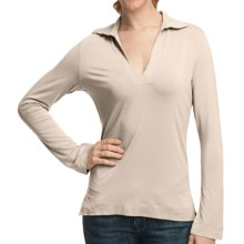 Johnny Collar Knit Shirt - Long Sleeve (For Women) in Cream - 2nds