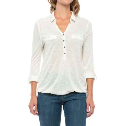 Johnny Collar Shirt - Long Sleeve (For Women) in White - 2nds
