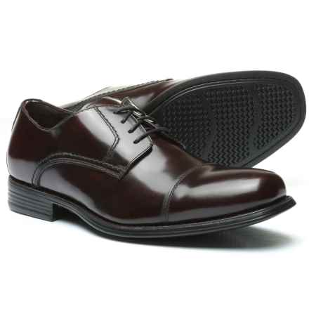 Johnston & Murphy Atchison Cap-Toe Oxford Shoes - Leather (For Men) in Burgundy - Closeouts